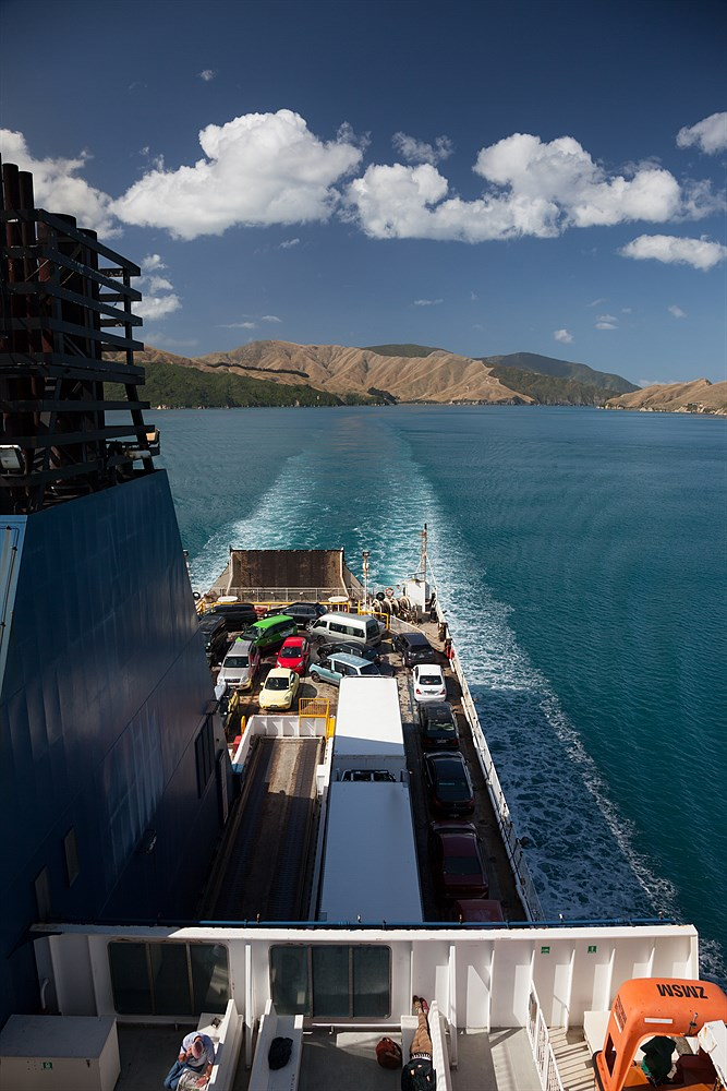 Ferry in Marlborough Sounds, photo