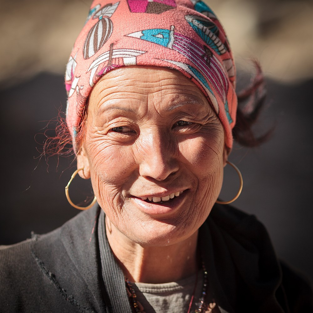 Woman in Ghyaru, photo