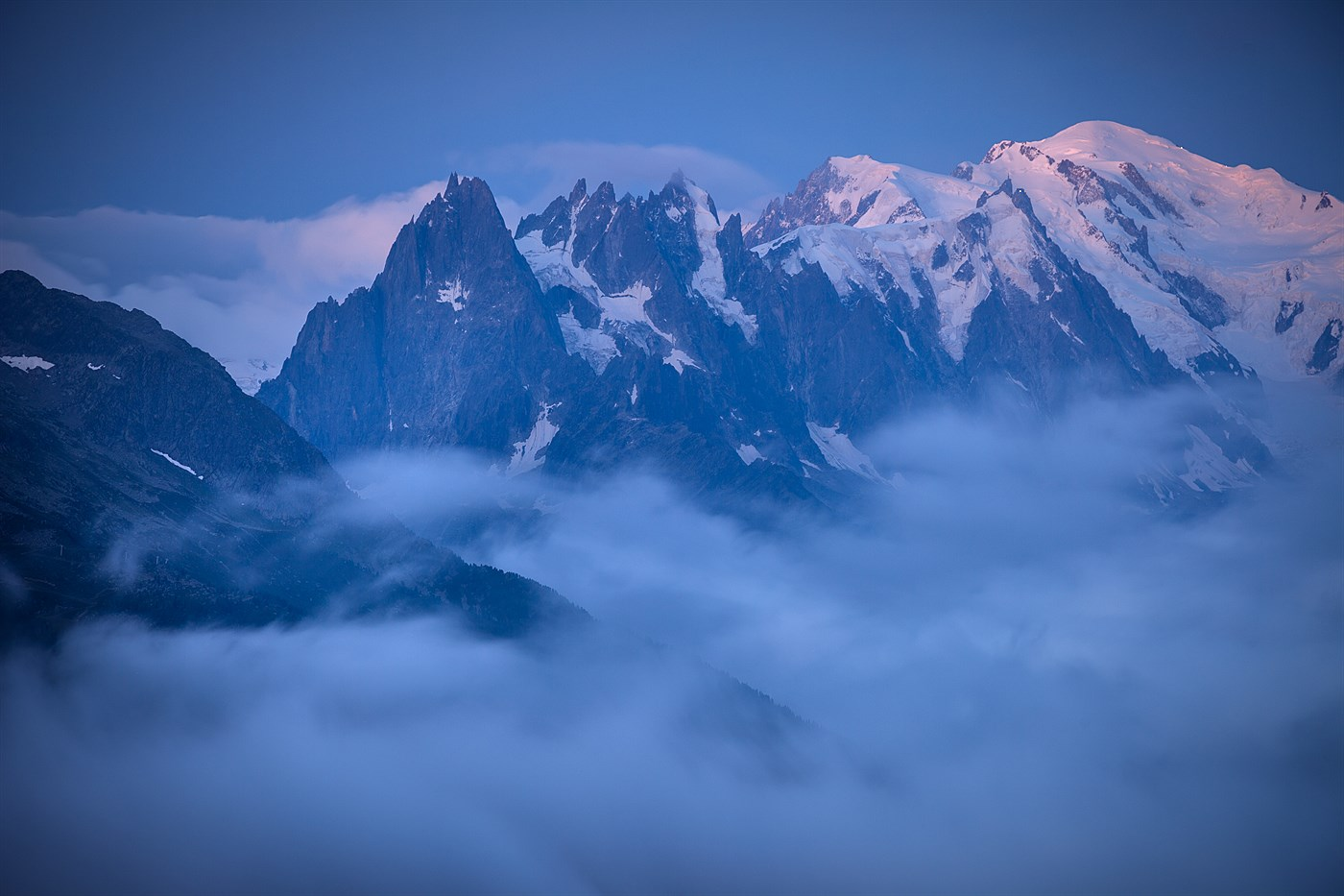 Mont Blanc from Col des Montets, photo