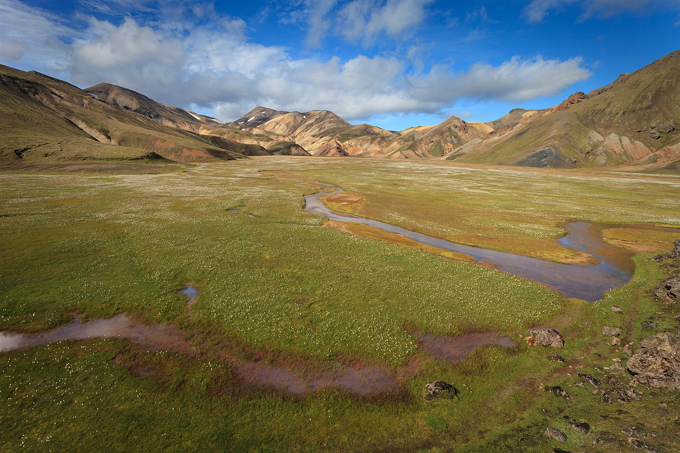 Landmannalaugar - river Námkvísl, photo
