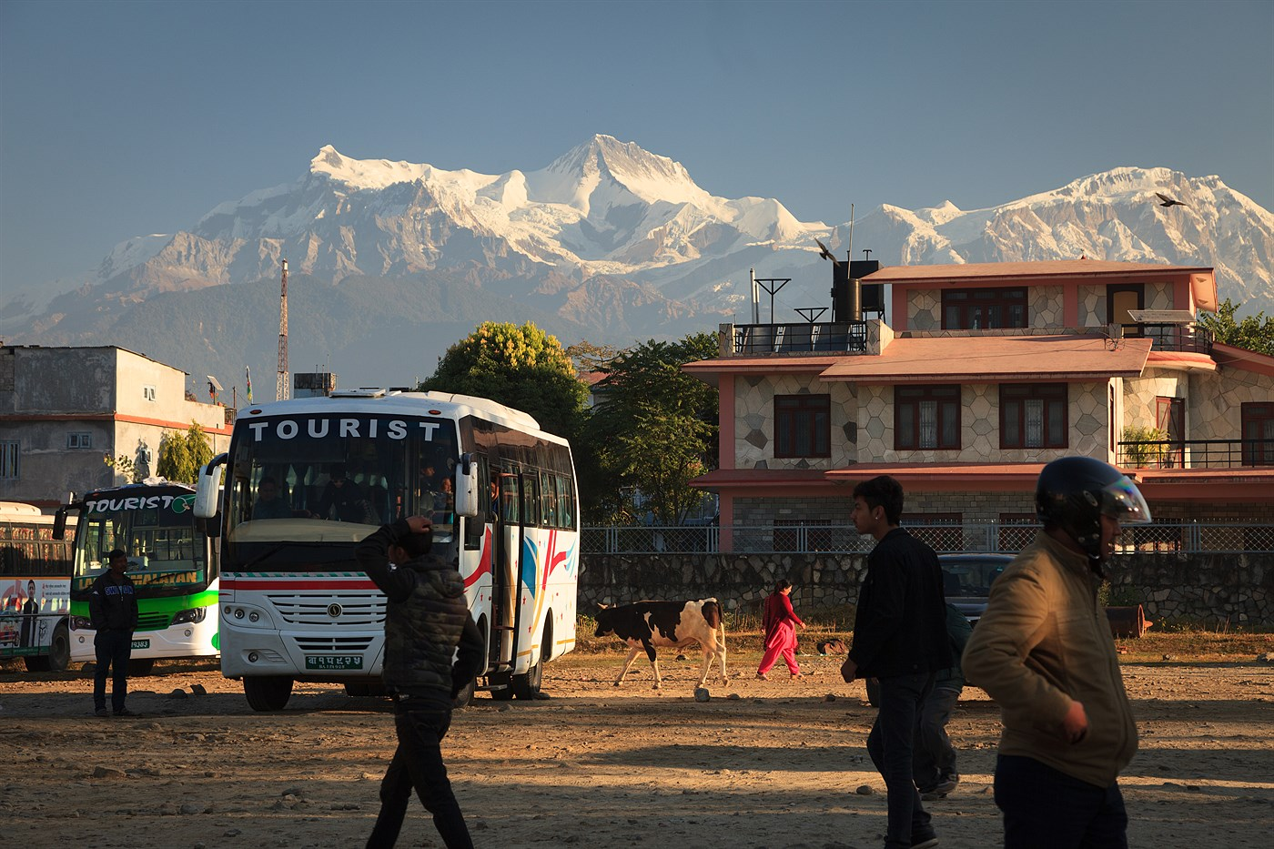 Pokhara bus station, photo
