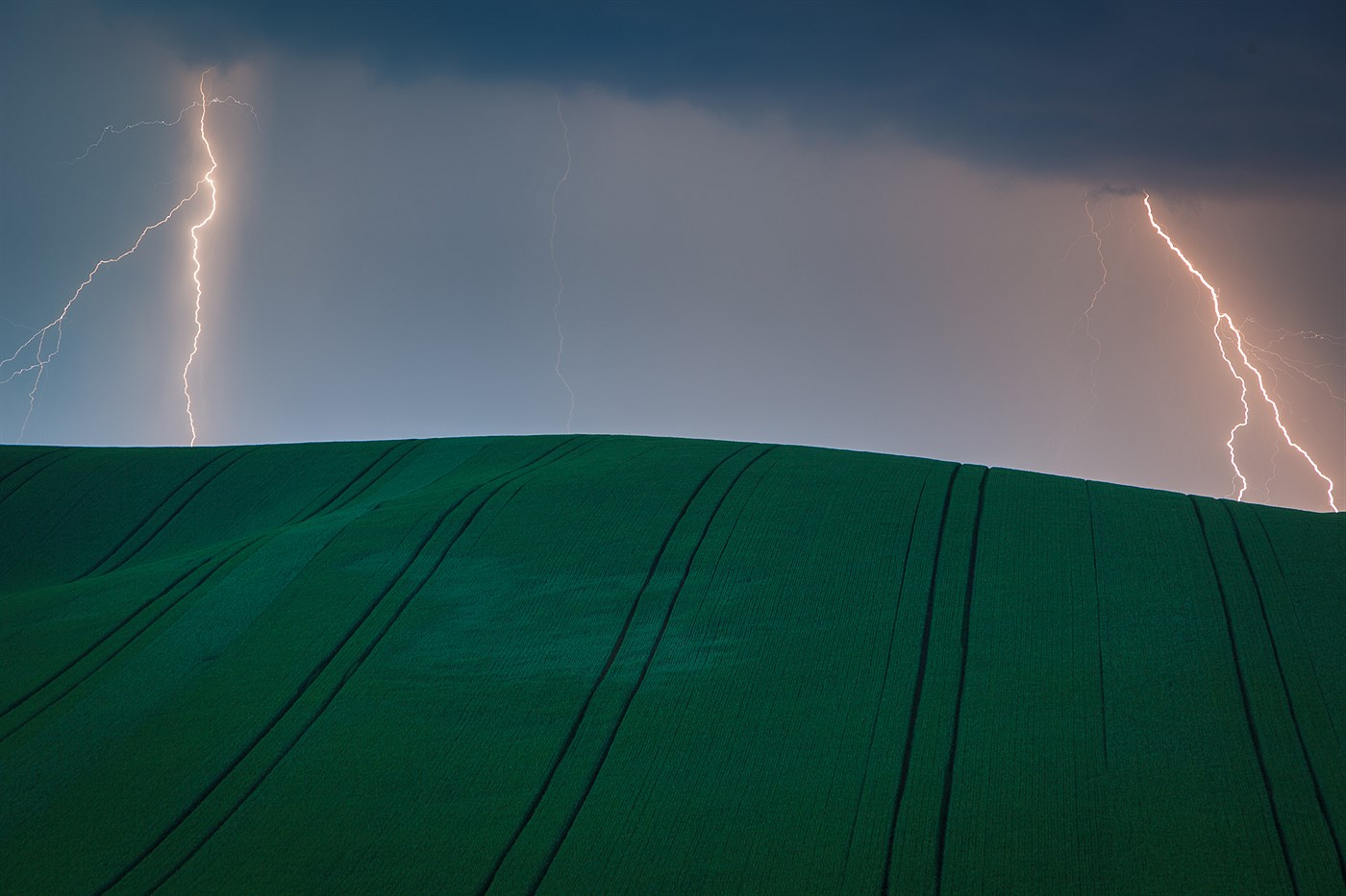 Storm in South Moravia, photo